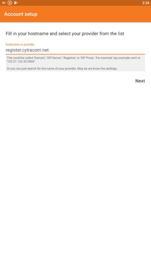 Zoiper Android Quick Set Up Guide – Cytracom